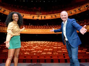 Wolverhampton legends Beverley Knight and Steve Bull at the Grand Theatre