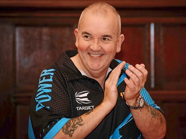Phil 'The Power' Taylor scores bullseye at Dudley Town Hall - with pictures