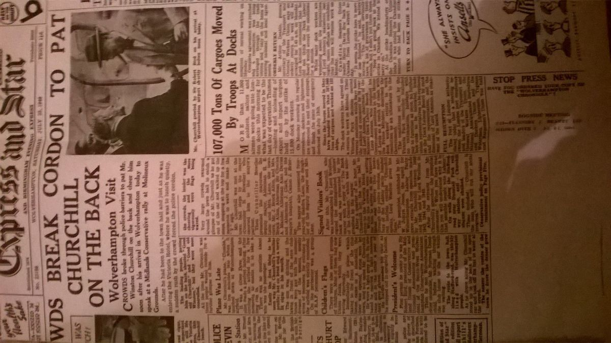 How the Express & Star reported on Churchill's visit to Wolverhampton