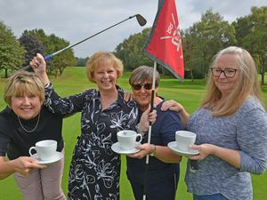 Celebrating the achievement, from left to right: Carol Rhodes, Deborah O'Leary, Pam Moorcroft and Tammy Sanga.