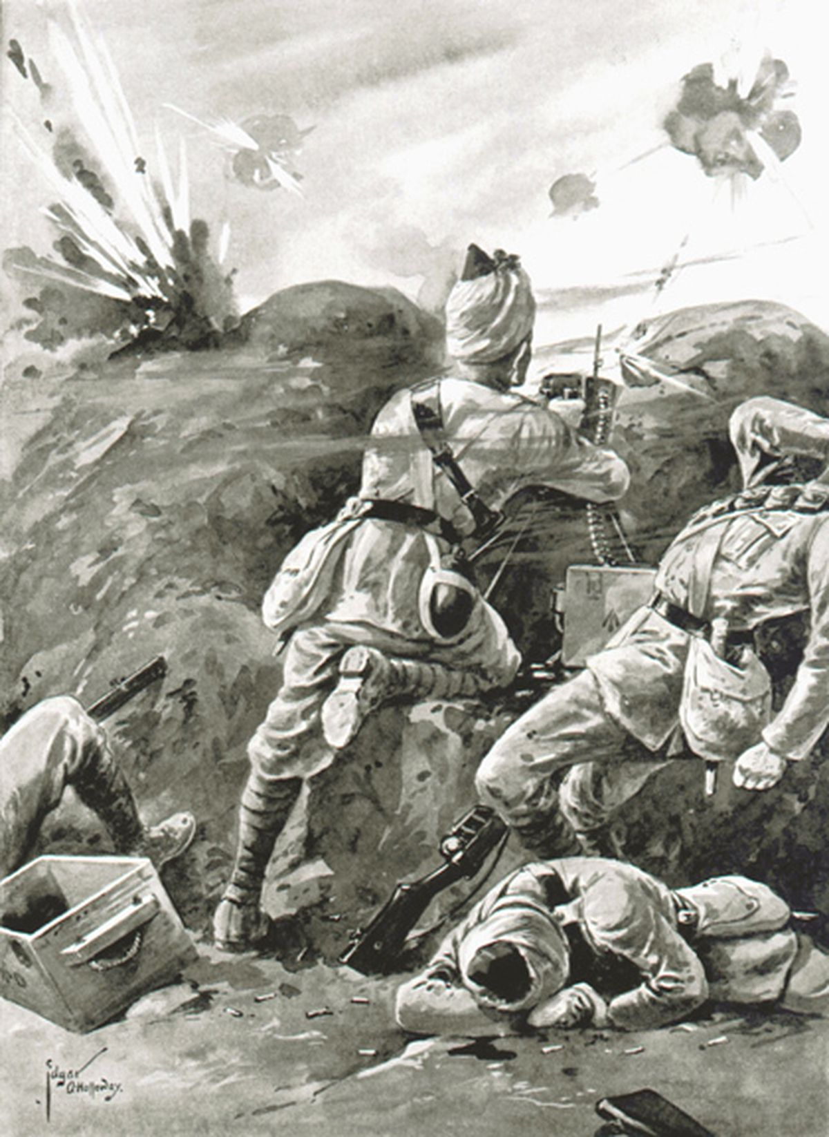 Sepoy Khudadad Khan was awarded the VC for his heroics during the Battle of Ypres