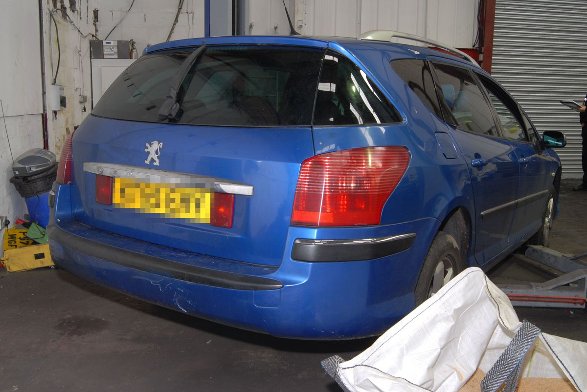 The Peugeot 407 estate recovered by police