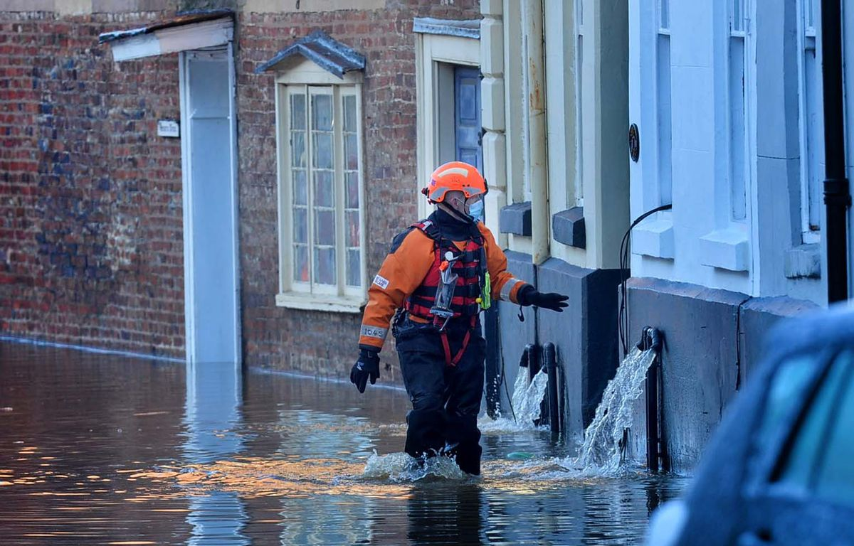 River Severn flooding in Bewdley on Saturday