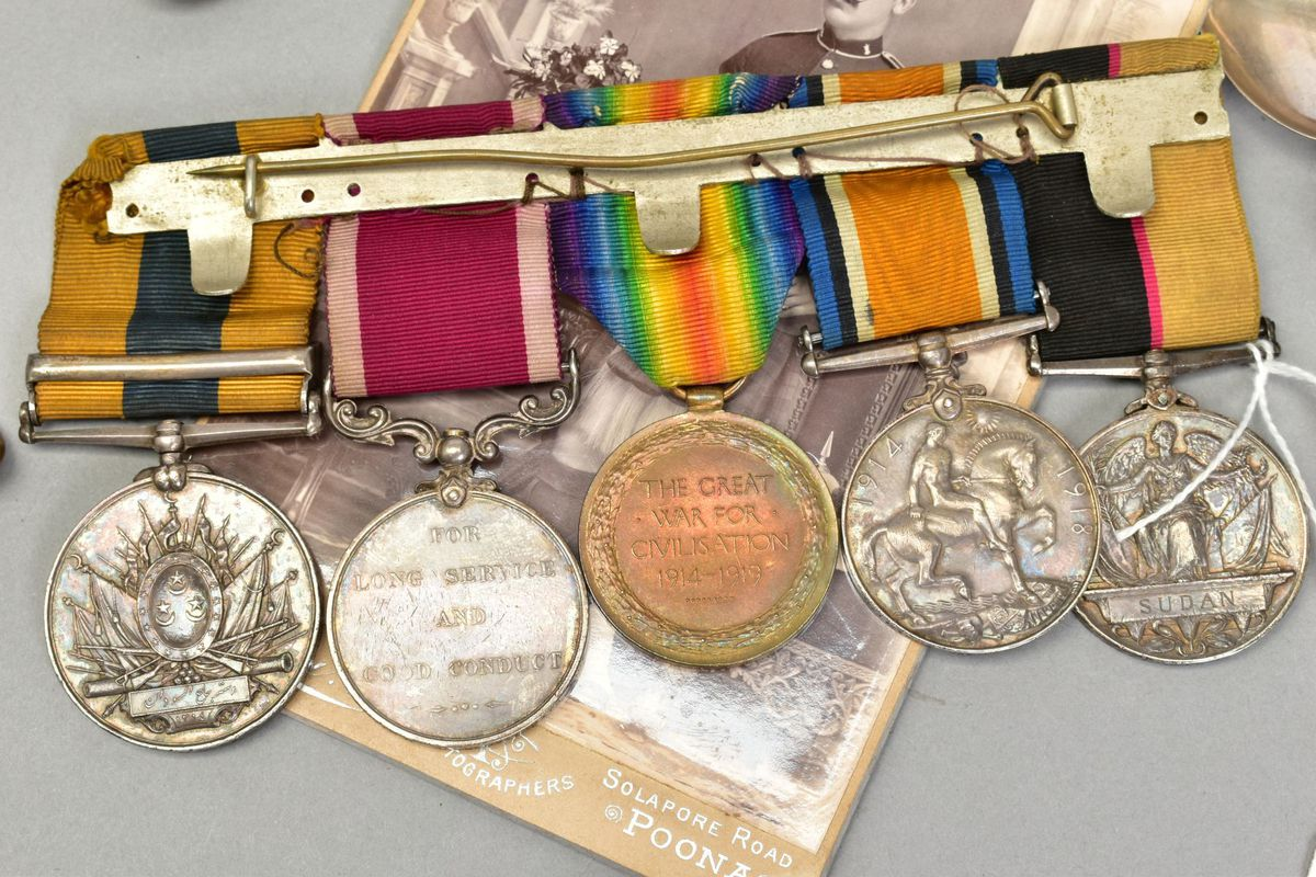 The medals from a soldier who served under Lord Kitchener