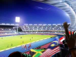 A revamped Alexander Stadium will host athletics at next year's Commonwealth Games. Photo: Birmingham City Council