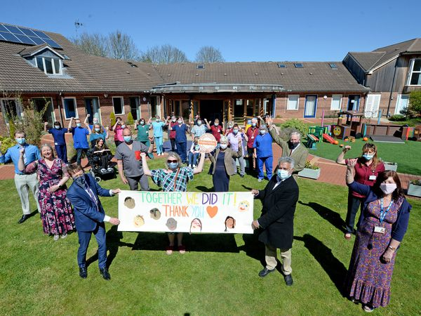 Staff and fundraisers celebrate as event was held to celebrate Acorns Children's Hospice in Walsall being saved from closure.