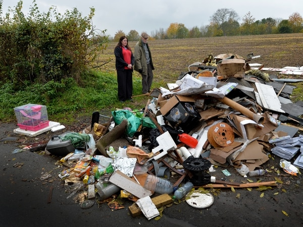 Outrage over huge pile of dumped rubbish near Bridgnorth