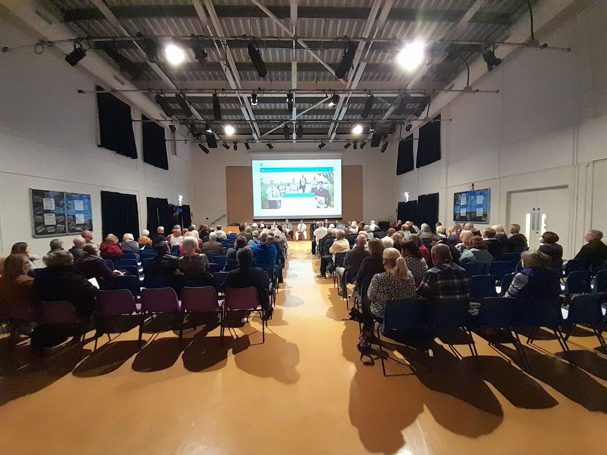 The meeting at Kingswood's Summerhill School to discuss the Black Country Plan