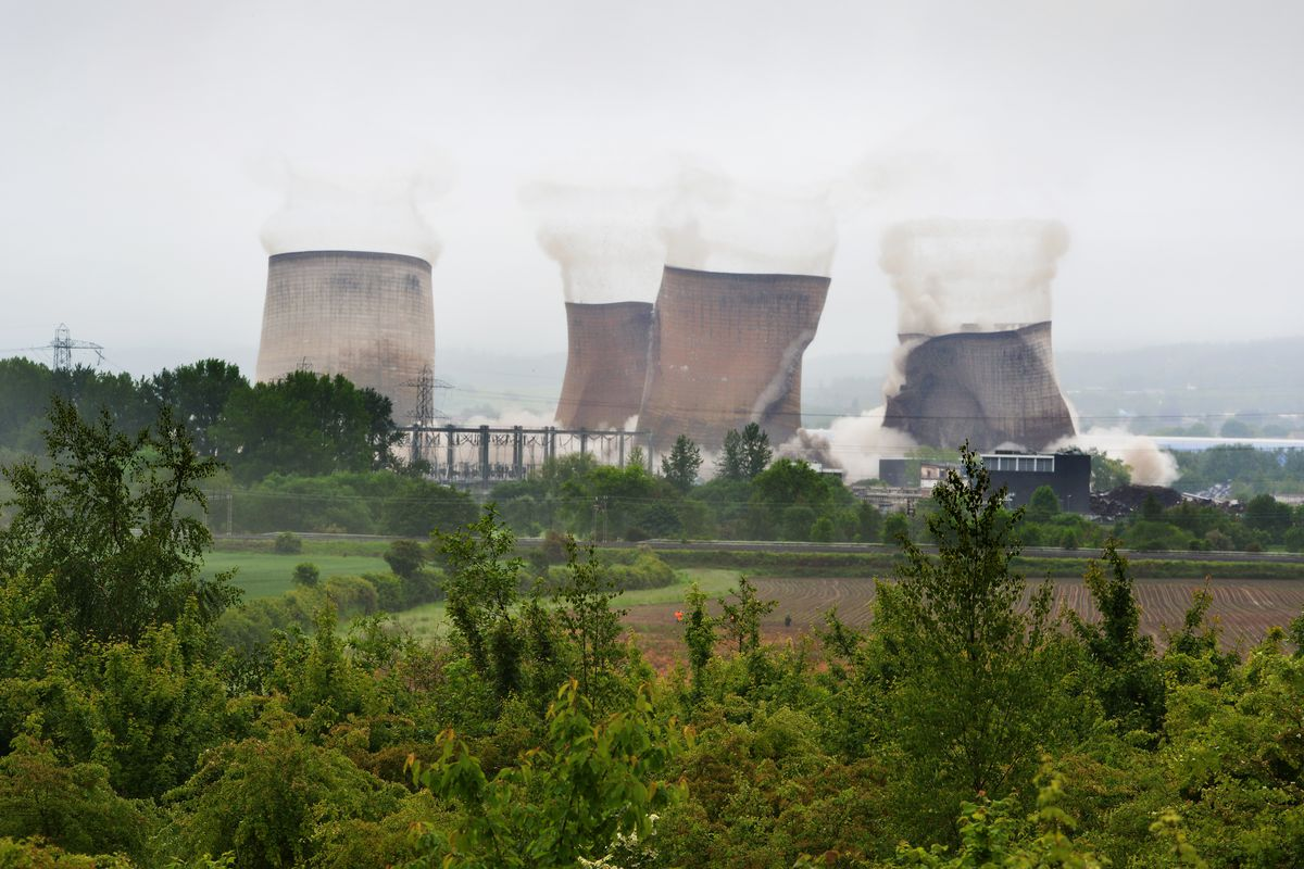 The demolition of the Rugeley Power Station cooling towers