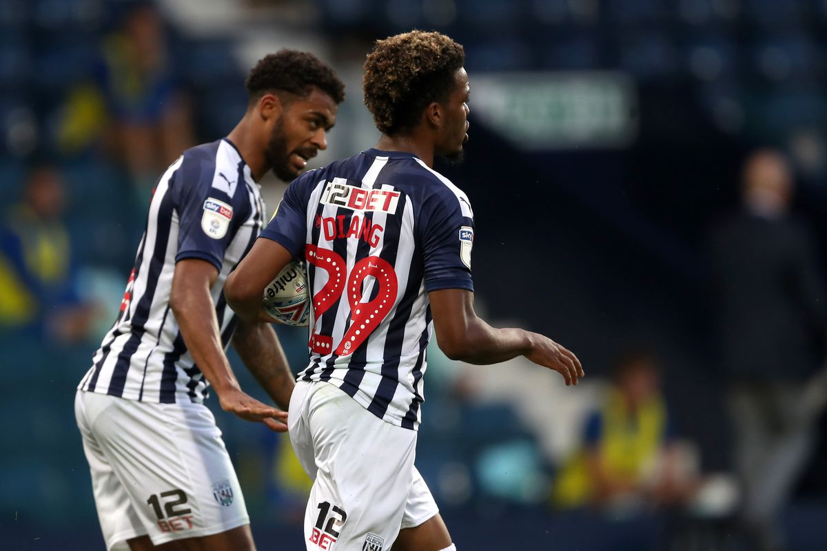 Grady Diangana of West Bromwich Albion celebrates after scoring a goal to make it 1-1. (AMA)