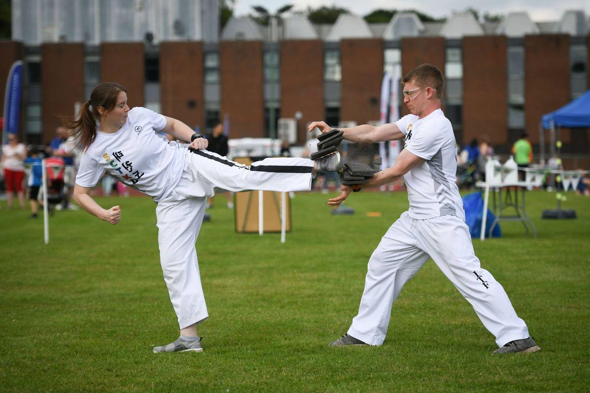 Martial arts action. Picture: Richard Harris