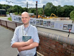 DUDLEY COPYRIGHT EXPRESS AND STAR STEVE LEATH 22/07/2021..Mark Andrews feature.  Pics at the Black Country Museum of Historian: Simon Briercliffe. He has just written a new book: Forging Ahead. There are also some pics of building work going on at museum..