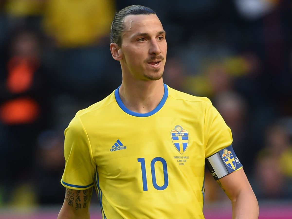 Zlatan Ibrahimovic in action for Sweden