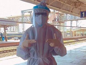Medical student Priyanka Khandar in full PPE