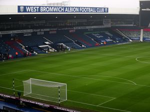 GV / general view of the pitch at The Hawthorns, the home stadium of West Bromwich Albion from the East Stand / Smethwick corner.