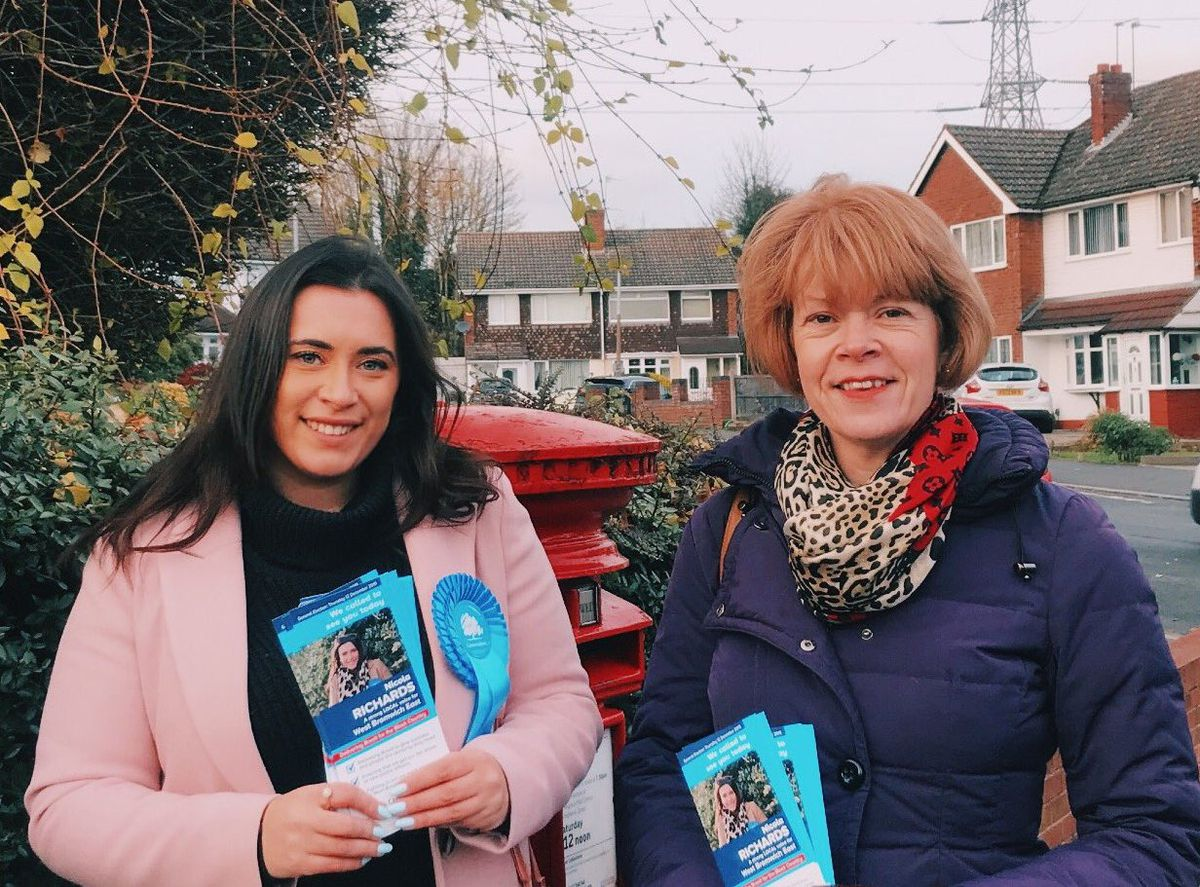 Nicola Richards, pictured left with Wendy Morton, is aiming to become a Tory MP aged 24