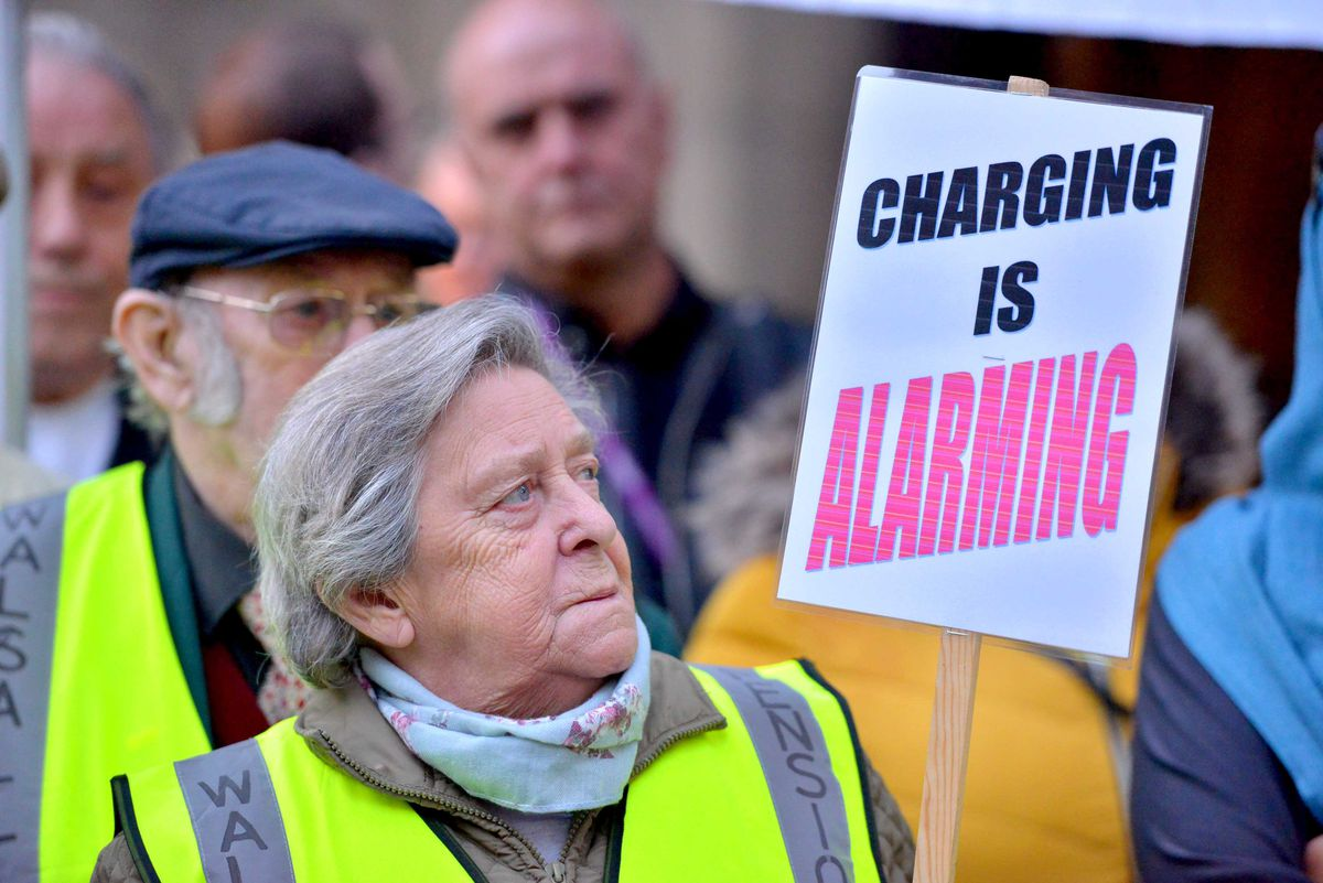 Maureen Joans was among dozens of protestors outside Walsall
