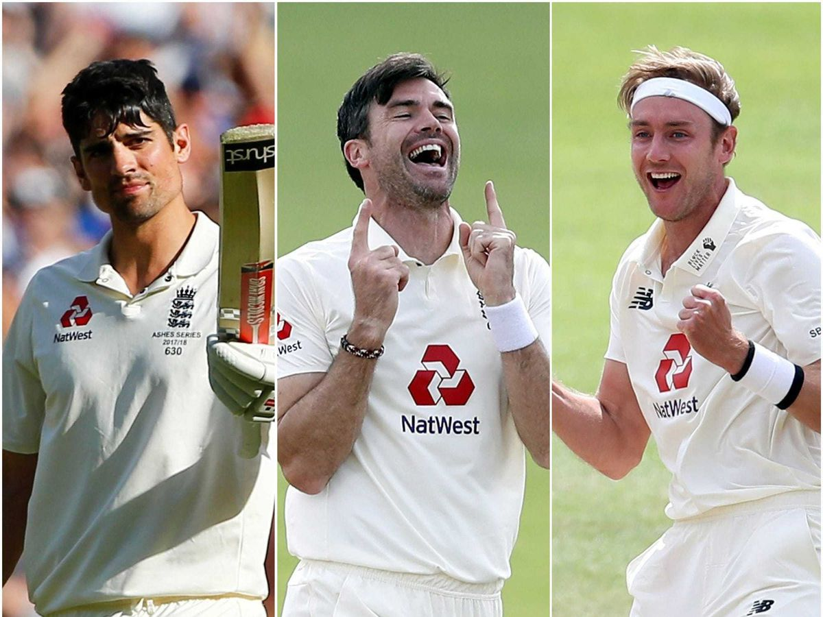 Sir Alastair Cook, James Anderson and Stuart Broad