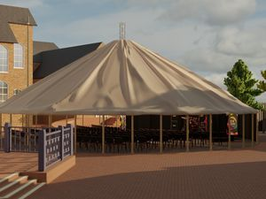 The big top-style outdoor space known as the New Horizons stage is set to host a number of shows