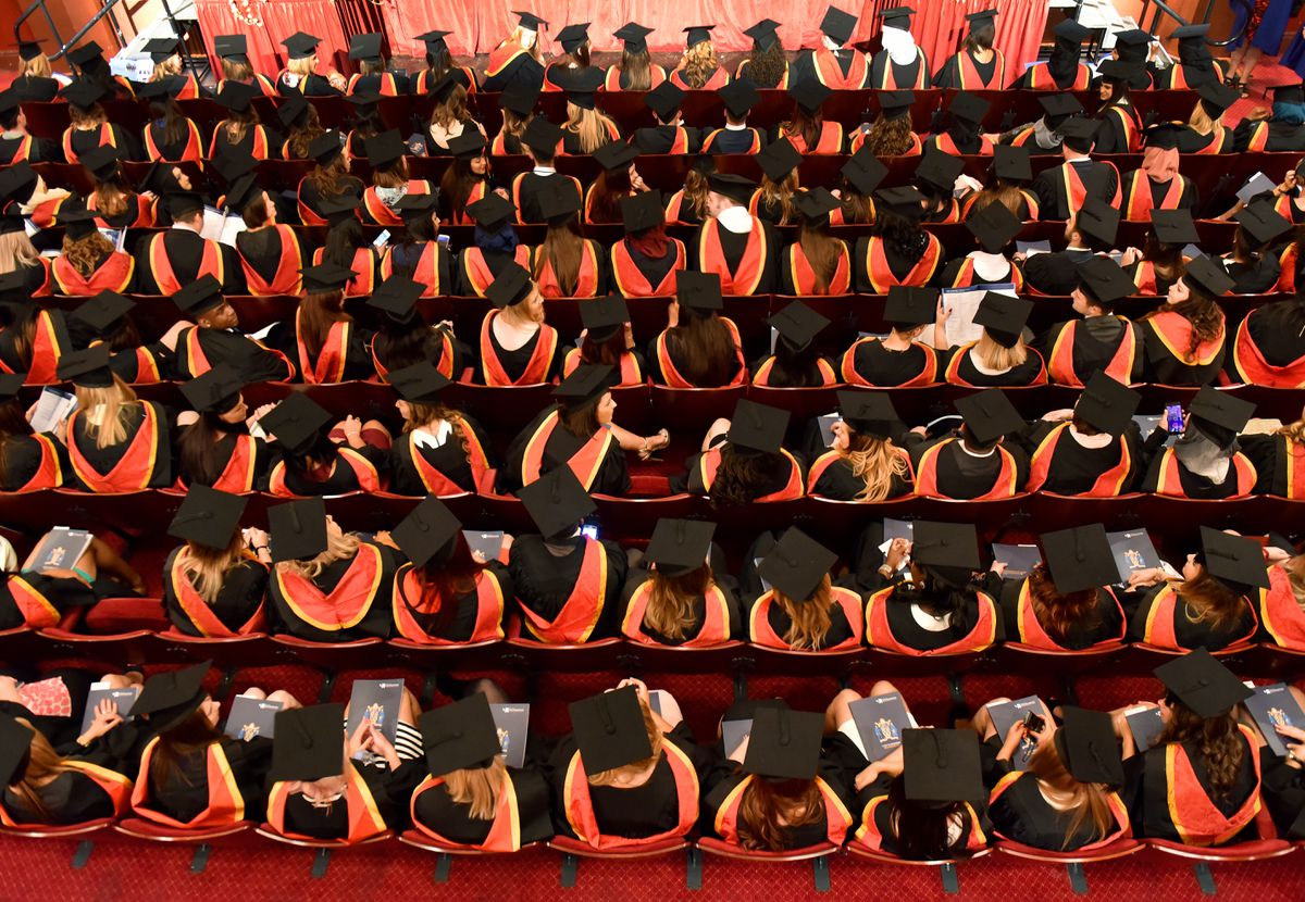 Graduation ceremonies like this in Wolverhampton will have to change due to social distancing
