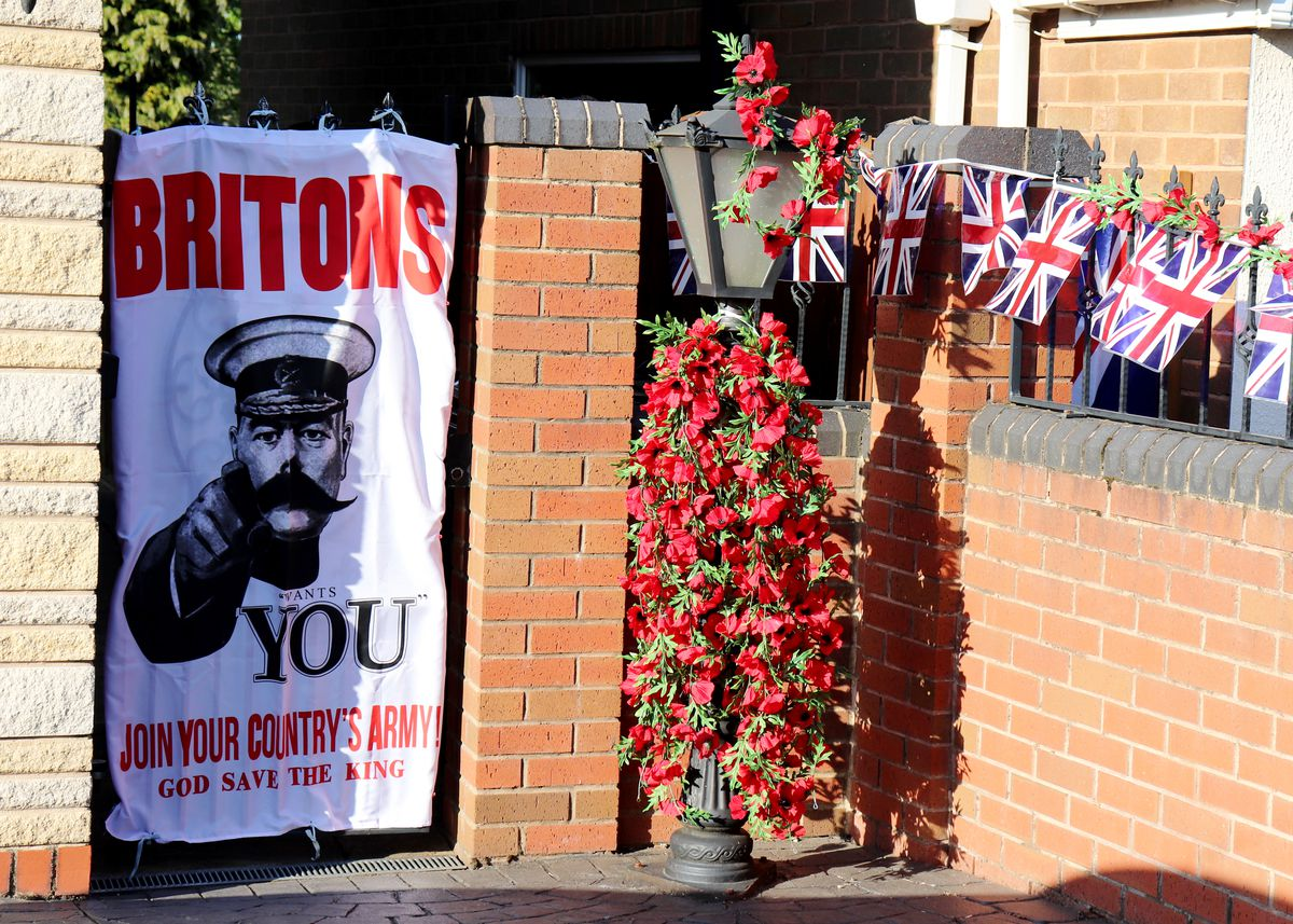 Michael and Jennifer Hill of Caddick Street, Coseley, decorated their house for the VE Day anniversary. Photo: Kate Thomas