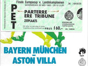 Match programme and ticket from Villa's 1982 European Cup victory