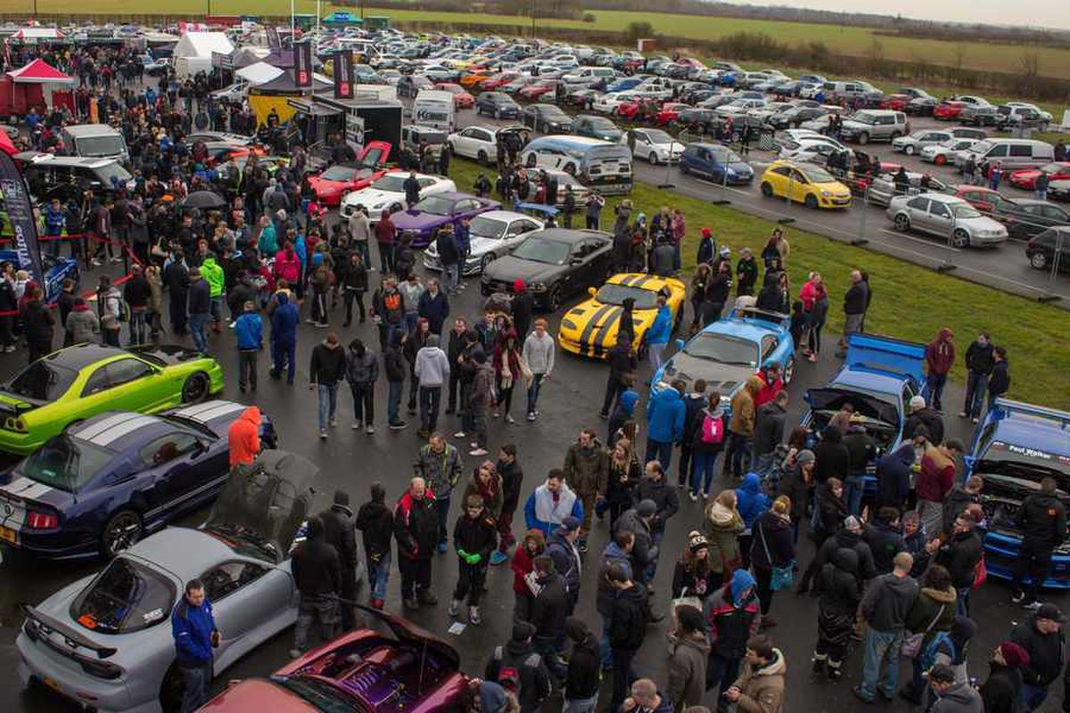 Fans of modified cars flock to Santa Pod Raceway for the Paul Walker memorial event earlier this year