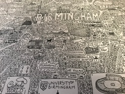 Cadbury World, Bullring Bull, Selfridges, O2 Academy and more: Landmarks feature on unique doodle map of Birmingham