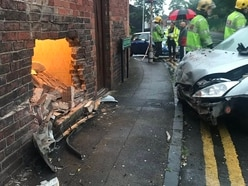 Driver and passengers flee as car ploughs into Smethwick house
