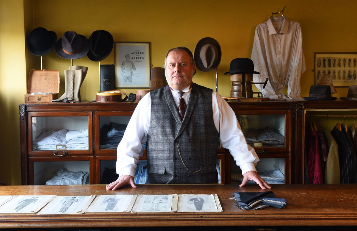 Kevin Goodman, from Dudley, who works in the Gentleman's Outfitters