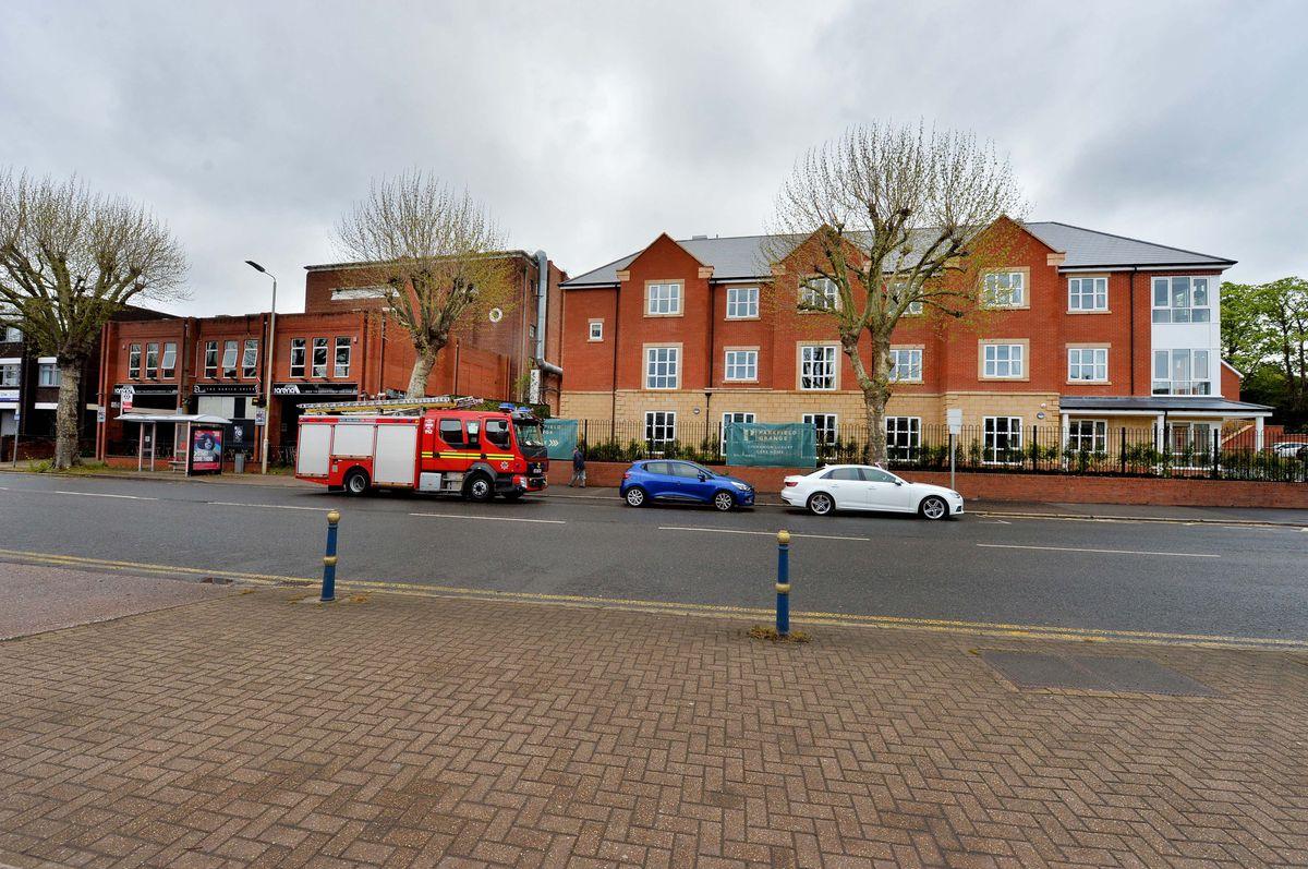 Fire crews at the scene in Stourbridge