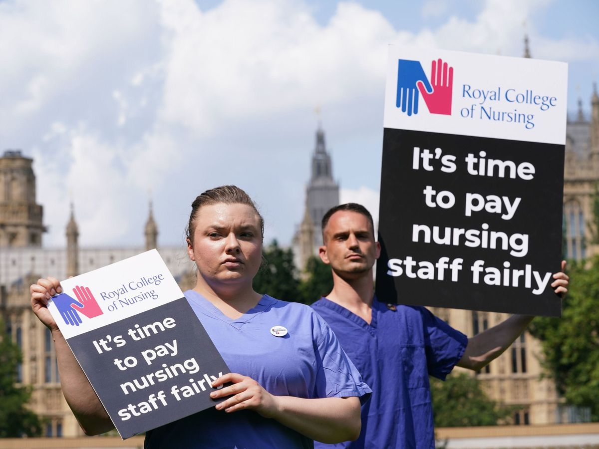 Protesting nurses