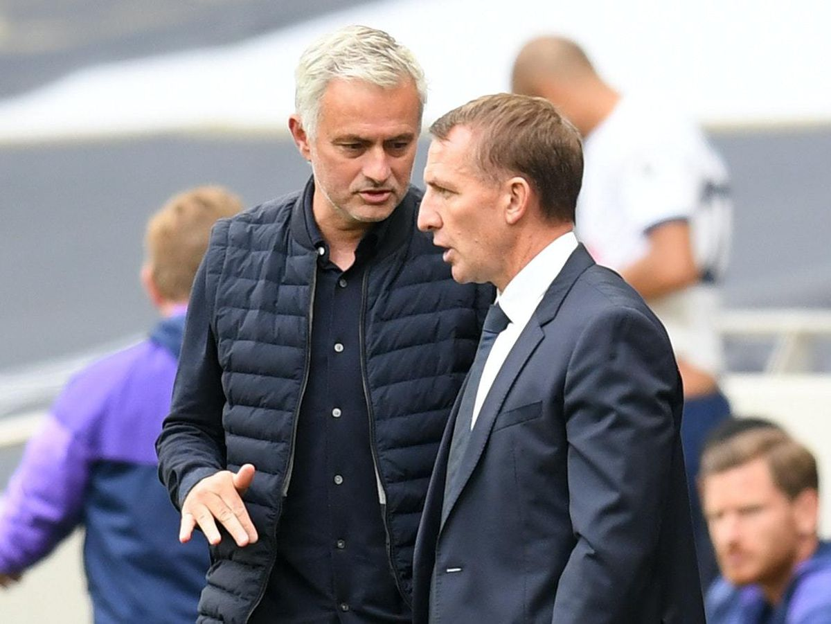 Jose Mourinho (left) and Brendan Rodgers worked together at Chelsea