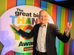Steve Bull at last year's Great Big Thank You Awards ceremony at Molineux