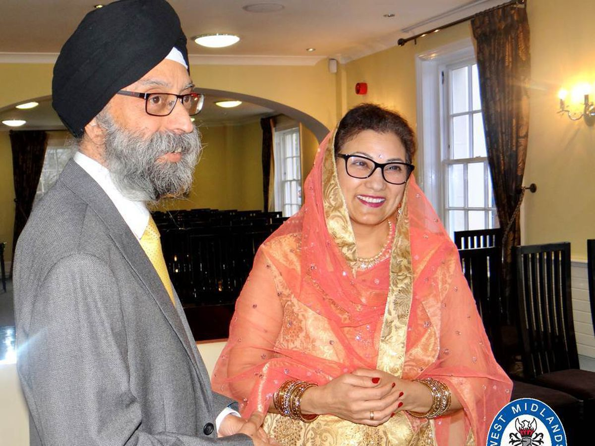 Jasbir Kaur and her husband Rupinder Singh Bassan. Photo: West Midlands