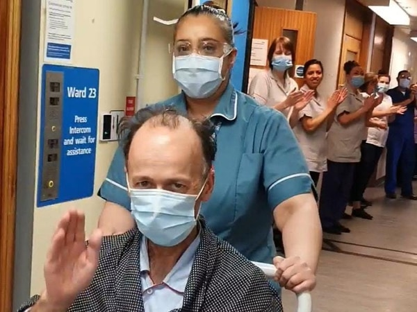 Coronavirus survivor given guard of honour as he is discharged from hospital