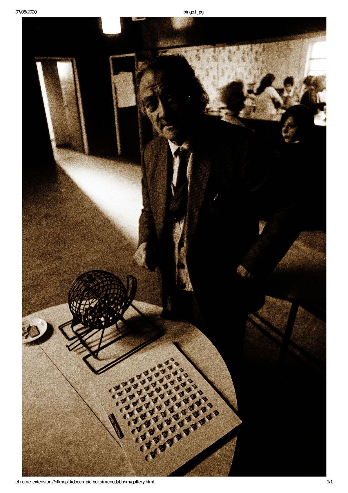 A bingo session at The Scotlands community hall