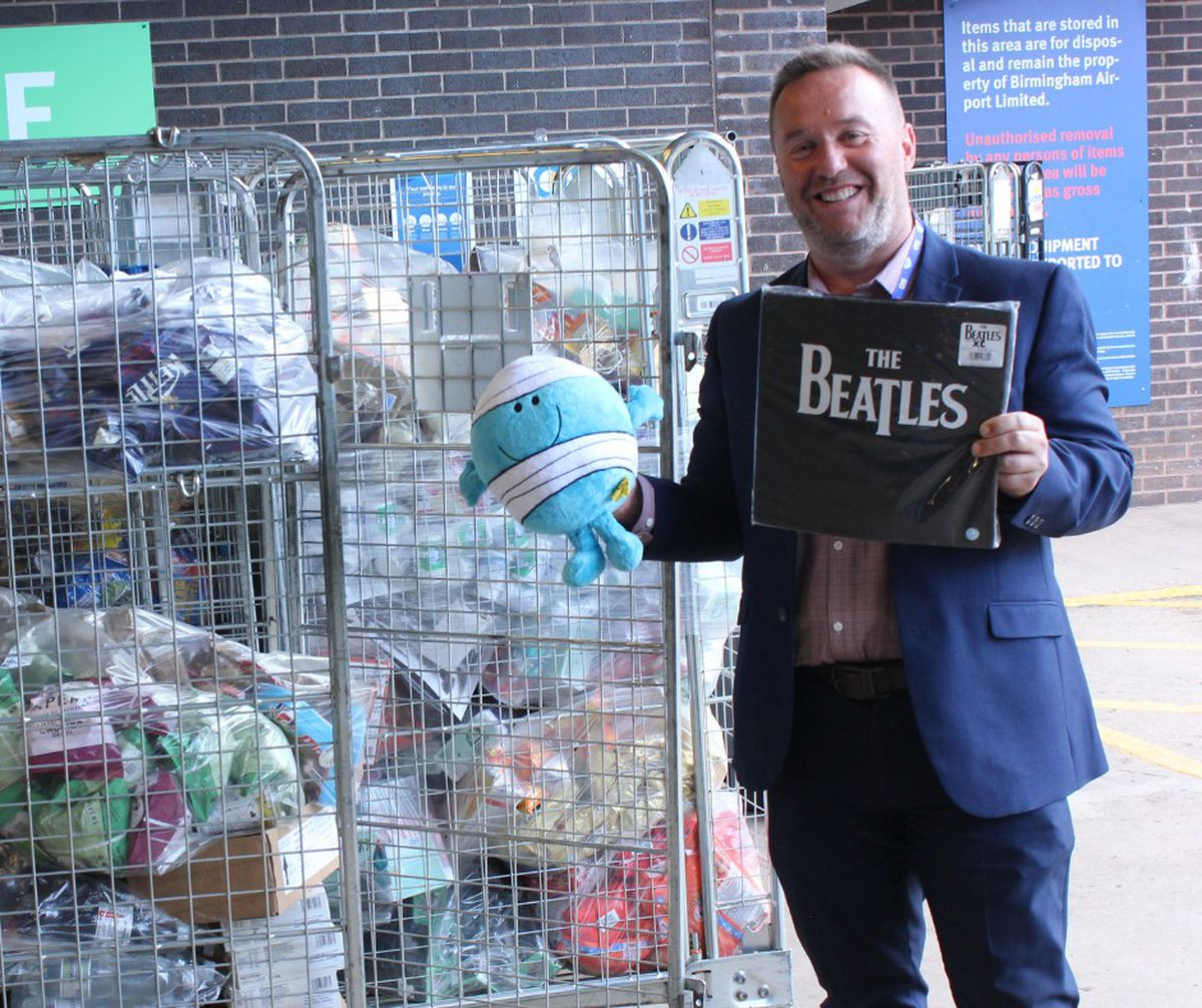 Darren Andrew from Novati with some of the donated items