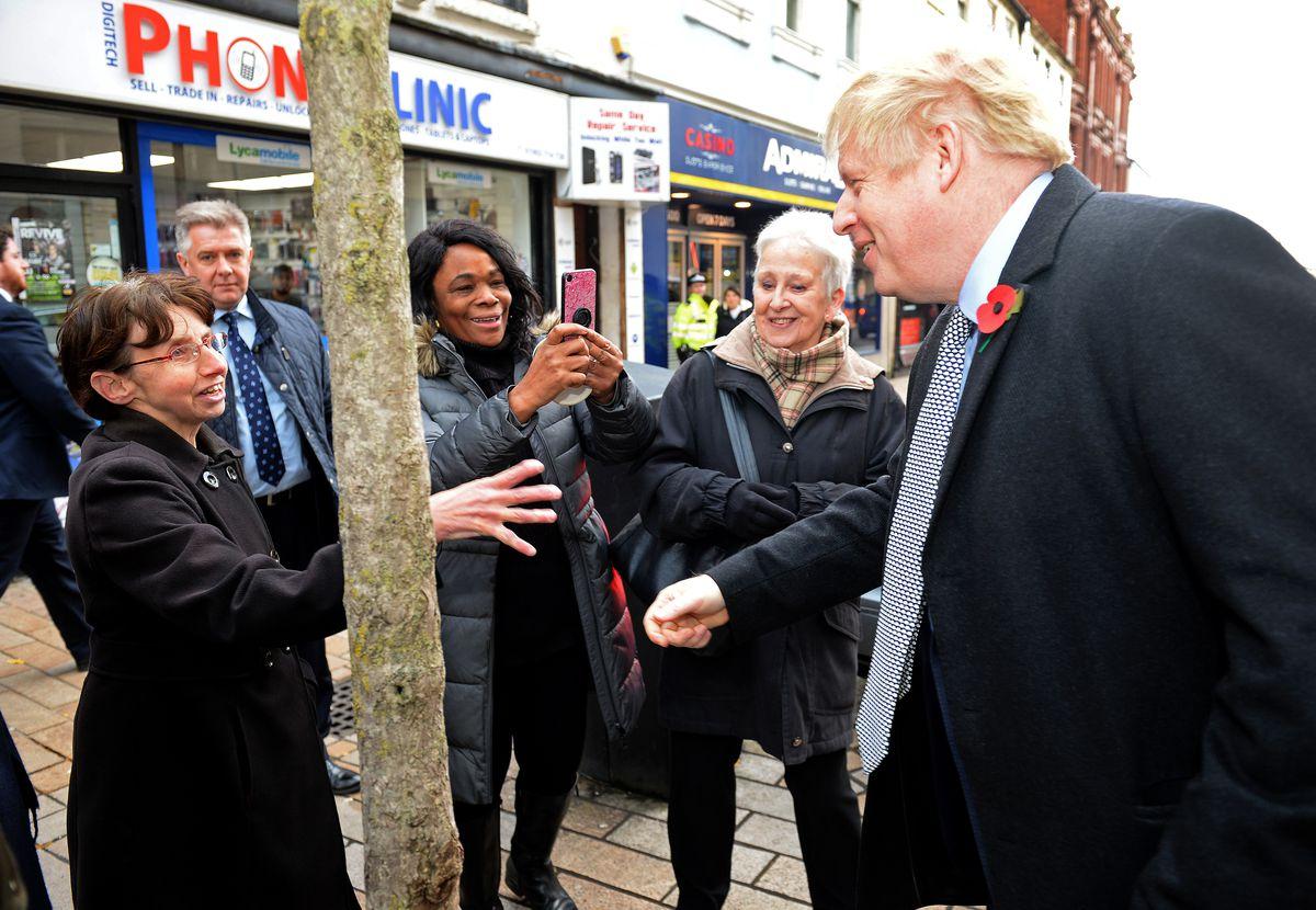 Boris Johnson meets locals on Queen Street