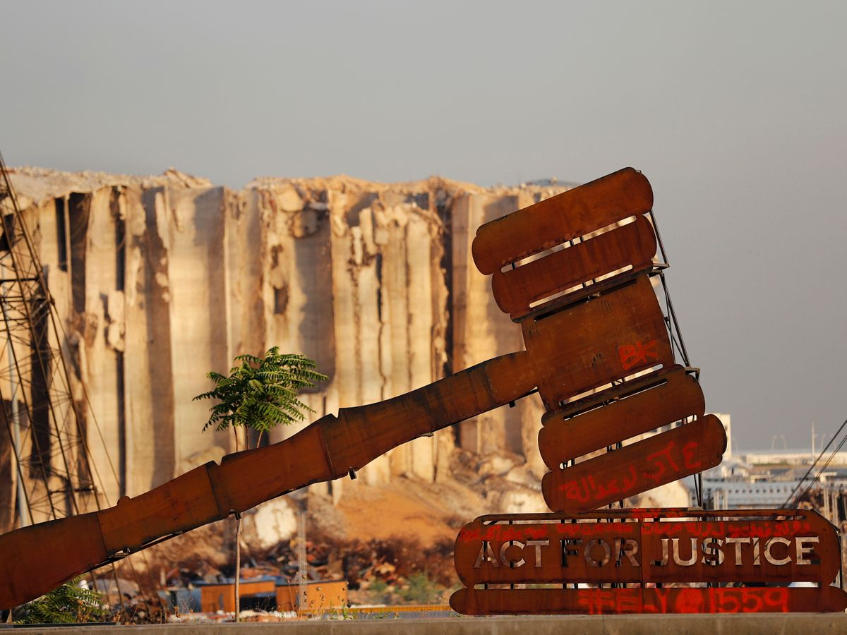 A justice symbol monument in Beirut