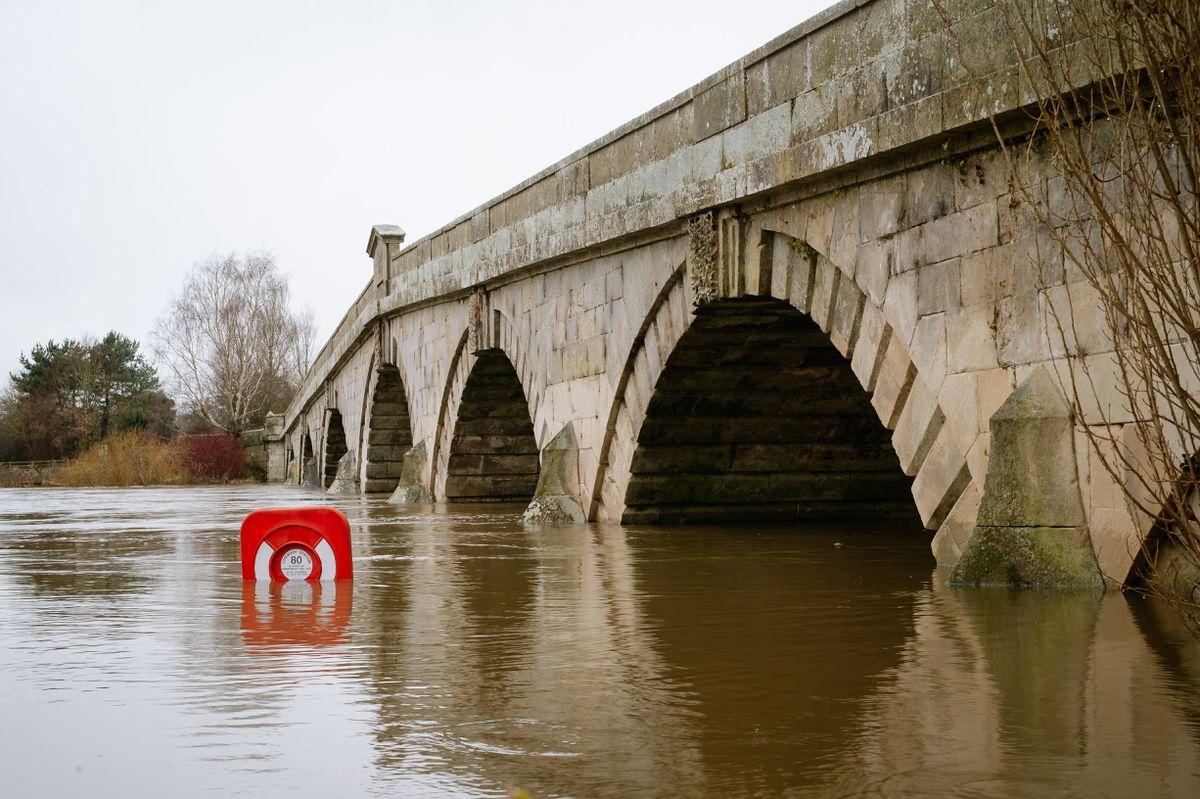 The River Severn at Atcham near Shrewsbury