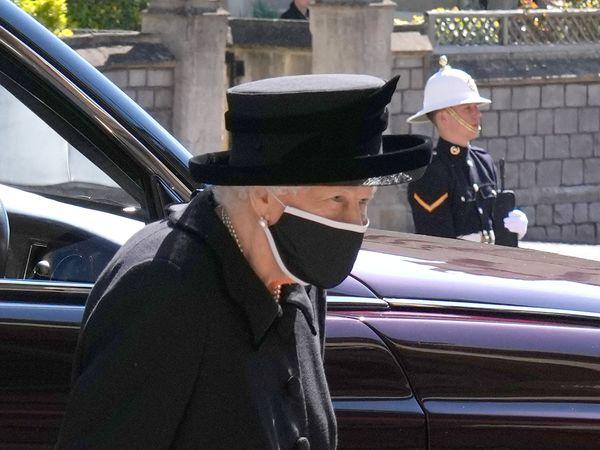 Queen at Duke of Edinburgh's funeral