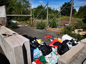 Fly-tipping at the former Butler's Arms site in Harden Road, Walsall