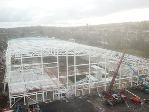 The £73 million Sandwell Aquatics Centre is on track for completion in spring 2022