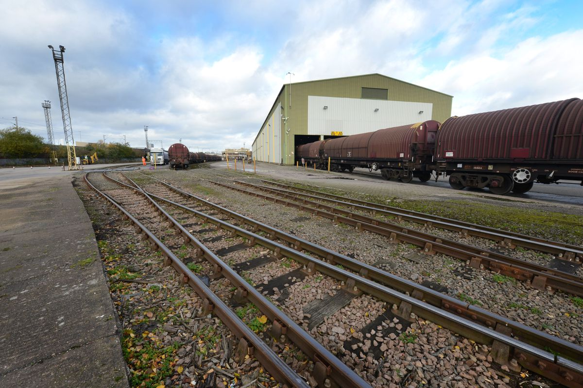 Site of £6m expansion to DB Cargo UK Logistics Centre, at Wolverhampton..