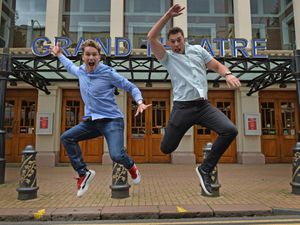 AJ and Curtis Pritchard visited Wolverhampton Grand Theatre where they will be starring in Cinderella later on this year