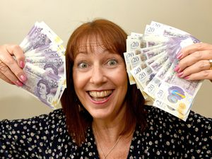 Julia Hayes celebrates being the second winner in the Express & Star's Grab A Grand competition