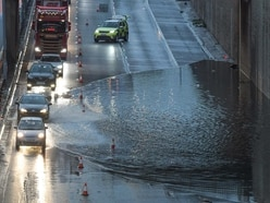Thunderstorms to go but rain to continue after M5 flooded