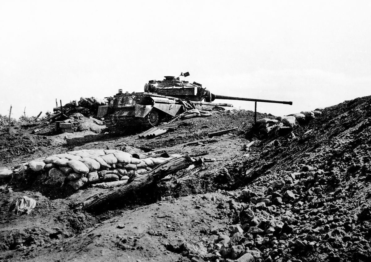 Alan took this picture of a Centurion tank near his position during the Korean War.