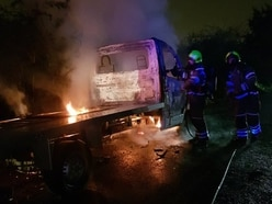 Pick-up truck fire closes Wombourne road